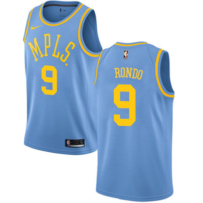 Nike Lakers #9 Rajon Rondo Royal Blue NBA Swingman Hardwood Classics Jersey