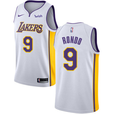 Nike Lakers #9 Rajon Rondo White Youth NBA Swingman Association Edition Jersey