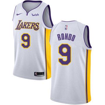 Nike Lakers #9 Rajon Rondo White Youth NBA Swingman Association Edition Jersey