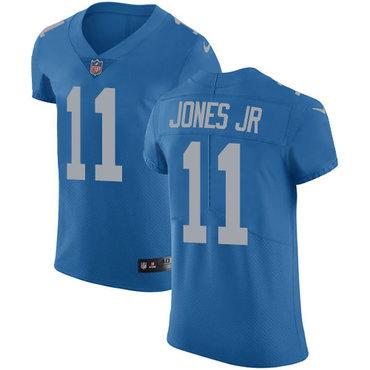 Nike Lions #11 Marvin Jones Jr Blue Throwback Men's Stitched NFL Vapor Untouchable Elite Jersey
