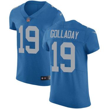 Nike Lions #19 Kenny Golladay Blue Throwback Men's Stitched NFL Vapor Untouchable Elite Jersey