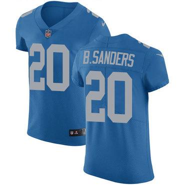 Nike Lions #20 Barry Sanders Blue Throwback Men's Stitched NFL Vapor Untouchable Elite Jersey