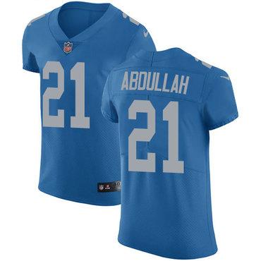 Nike Lions #21 Ameer Abdullah Blue Throwback Men's Stitched NFL Vapor Untouchable Elite Jersey