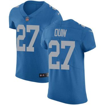 Nike Lions #27 Glover Quin Blue Throwback Men's Stitched NFL Vapor Untouchable Elite Jersey
