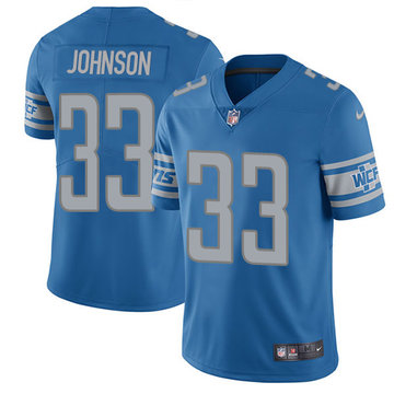 Nike Lions #33 Kerryon Johnson Light Blue Team Color Youth Stitched NFL Vapor Untouchable Limited Jersey