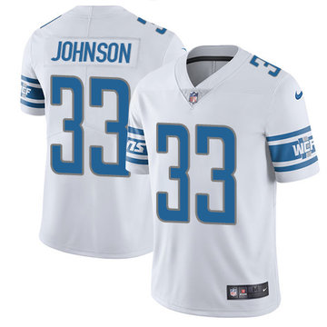 Nike Lions #33 Kerryon Johnson White Youth Stitched NFL Vapor Untouchable Limited Jersey