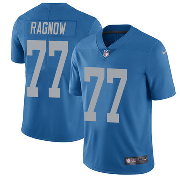 Nike Lions #77 Frank Ragnow Blue Throwback Youth Stitched NFL Vapor Untouchable Limited Jersey