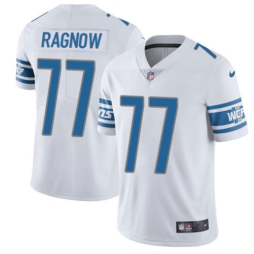 Nike Lions #77 Frank Ragnow White Men's Stitched NFL Vapor Untouchable Limited Jersey