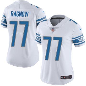 Nike Lions #77 Frank Ragnow White Women's Stitched NFL Vapor Untouchable Limited Jersey