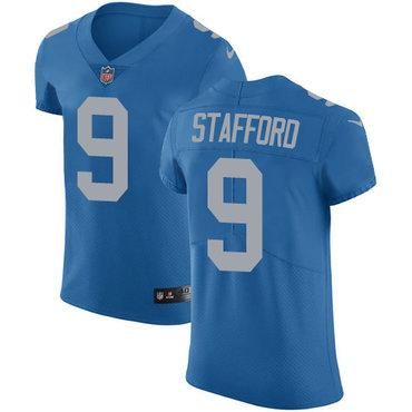Nike Lions #9 Matthew Stafford Blue Alternate Men's Stitched NFL Vapor Untouchable Elite Jersey
