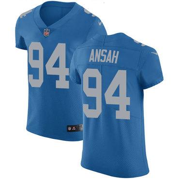 Nike Lions #94 Ziggy Ansah Blue Throwback Men's Stitched NFL Vapor Untouchable Elite Jersey