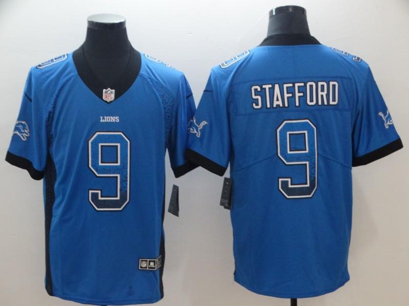 Nike Lions 9 Matthew Stafford Royal Drift Fashion Limited Jersey