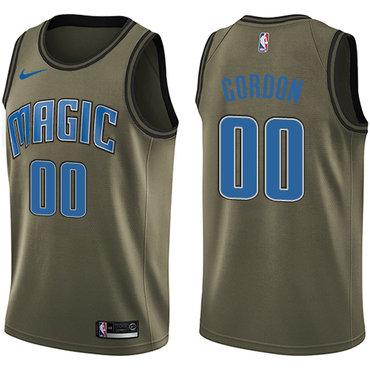 Nike Magic #00 Aaron Gordon Green Salute to Service NBA Swingman Jersey