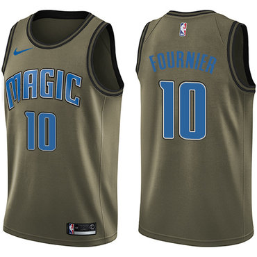 Nike Magic #10 Evan Fournier Green Salute to Service NBA Swingman Jersey