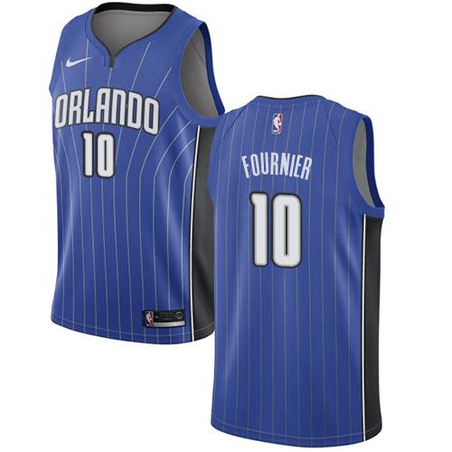 Nike Magic #10 Evan Fournier Royal NBA Swingman Icon Edition Jersey
