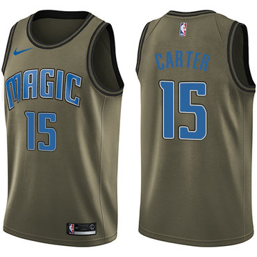 Nike Magic #15 Vince Carter Green Salute to Service NBA Swingman Jersey