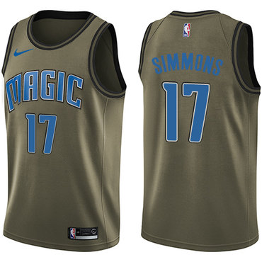 Nike Magic #17 Jonathon Simmons Green Salute to Service NBA Swingman Jersey