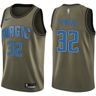 Nike Magic #32 Shaquille O'Neal Green Salute to Service NBA Swingman Jersey