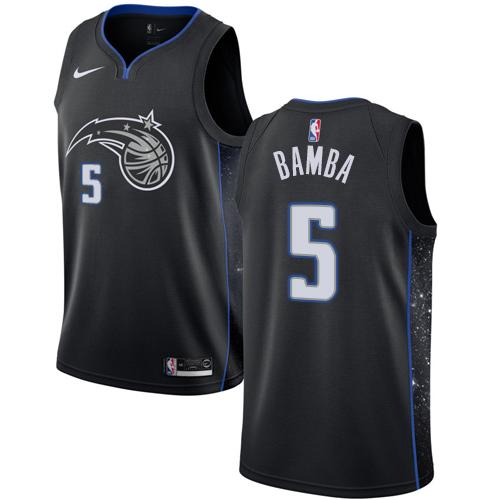 Nike Magic #5 Mohamed Bamba Black NBA Swingman City Edition 2018 19 Jersey
