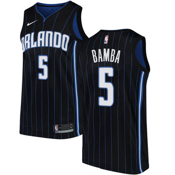 Nike Magic #5 Mohamed Bamba Black NBA Swingman Statement Edition Jersey