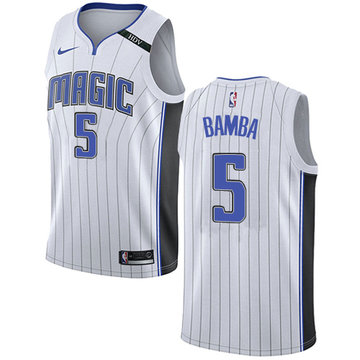 Nike Magic #5 Mohamed Bamba White NBA Swingman Association Edition Jersey