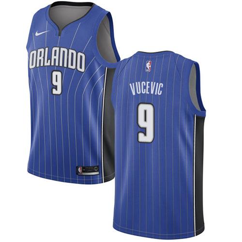 Nike Magic #9 Nikola Vucevic Black NBA Swingman Statement Edition Jersey 0