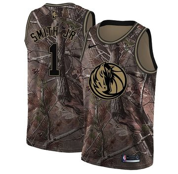Nike Mavericks #1 Dennis Smith Jr. Camo NBA Swingman Realtree Collection Jersey