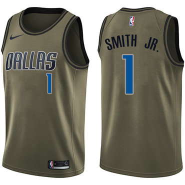 Nike Mavericks #1 Dennis Smith Jr. Green Salute to Service NBA Swingman Jersey