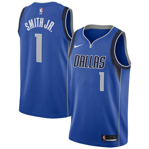 Nike Mavericks #1 Dennis Smith Jr. Royal NBA Swingman Icon Edition Jersey