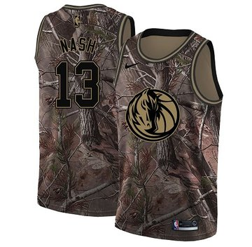 Nike Mavericks #13 Steve Nash Camo NBA Swingman Realtree Collection Jersey