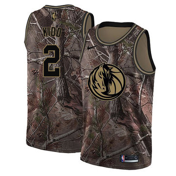 Nike Mavericks #2 Jason Kidd Camo Women's NBA Swingman Realtree Collection Jersey