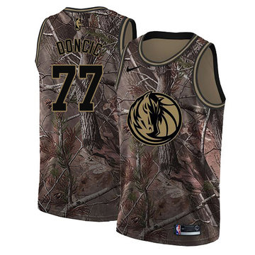 Nike Mavericks #77 Luka Doncic Camo Youth NBA Swingman Realtree Collection Jersey