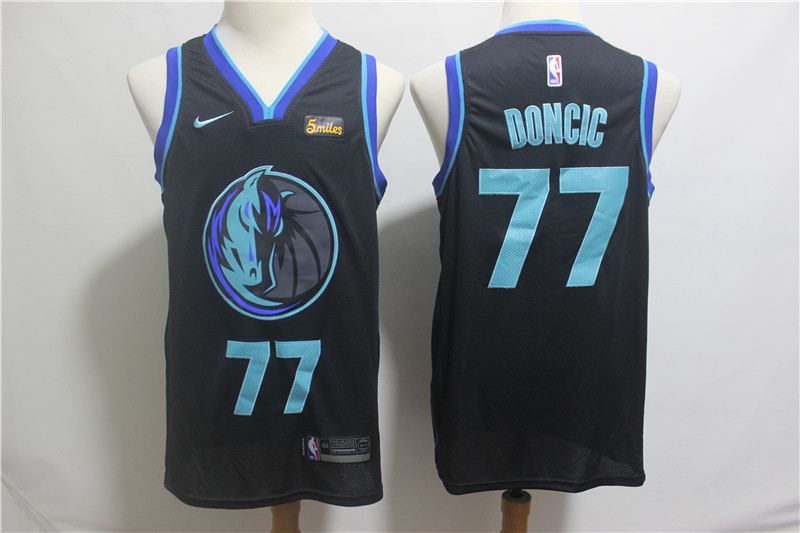Nike Mavericks 77 Luka Doncic Black 2018-19 City Edition Nike Swingman Jersey