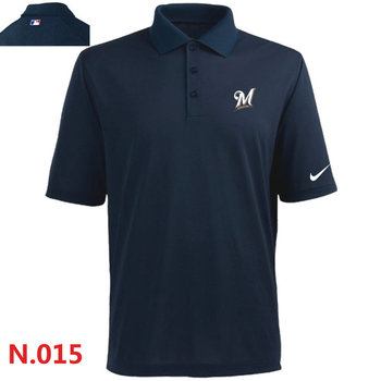 Nike Milwaukee Brewers 2014 Players Performance Polo -Dark biue