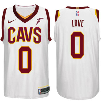 Nike NBA Cleveland Cavaliers #0 Kevin Love Jersey 2017 18 New Season White Jersey