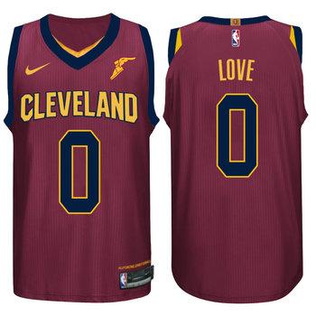 Nike NBA Cleveland Cavaliers #0 Kevin Love Jersey 2017 18 New Season Wine Red Jersey