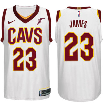 Nike NBA Cleveland Cavaliers #23 LeBron James Jersey 2017 18 New Season White Jersey