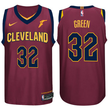 Nike NBA Cleveland Cavaliers #32 Jeff Green Jersey 2017 18 New Season Wine Red Jersey