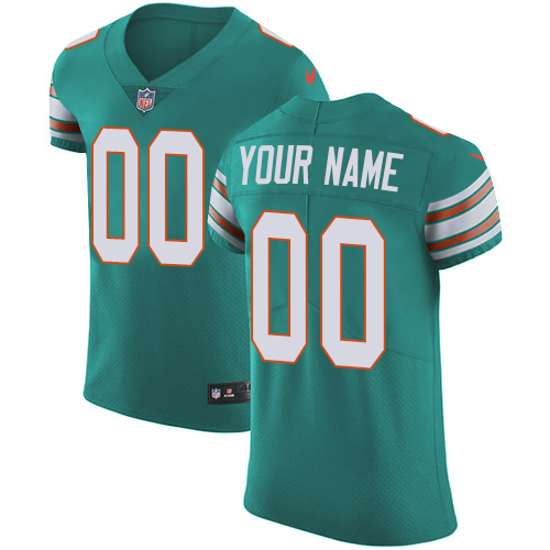 Nike NFL Miami Dolphins Vapor Untouchable Customized Elite Aqua Green Alternate Men's Jersey