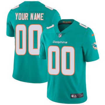 Nike NFL Miami Dolphins Vapor Untouchable Customized Limited Aqua Green Home Men's Jersey