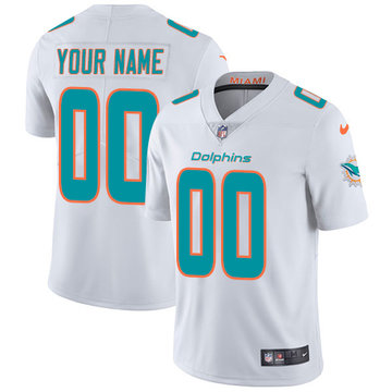 Nike NFL Miami Dolphins Vapor Untouchable Customized Limited White Road Men's Jersey