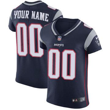 Nike NFL New England Patriots Vapor Untouchable Customized Elite Navy Blue Home Men's Jersey