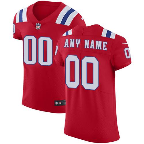 Nike NFL New England Patriots Vapor Untouchable Customized Elite Red Alternate Men's Jersey