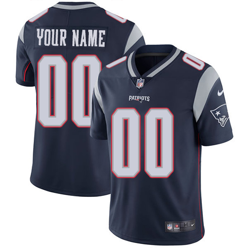 Nike NFL New England Patriots Vapor Untouchable Customized Limited Navy Blue Home Men's Jersey