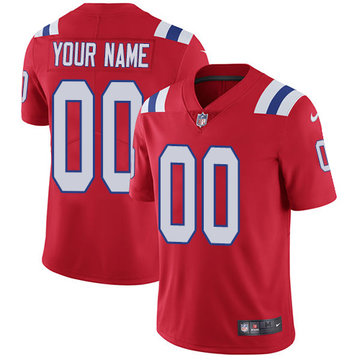 Nike NFL New England Patriots Vapor Untouchable Customized Limited Red Alternate Men's Jersey