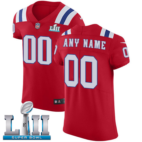 Nike NFL New England Patriots Vapor Untouchable Customized Super Bowl LII Elite Red Alternate Men's Jersey