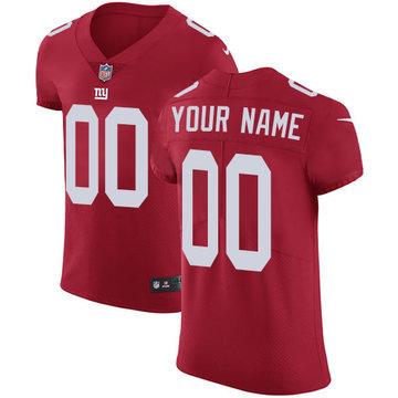 Nike NFL New York Giants Vapor Untouchable Customized Elite Red Alternate Men's Jersey