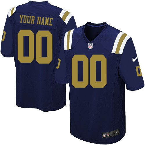 Nike NFL New York Jets CustomizedLimited Navy Blue Alternate Youth Jersey