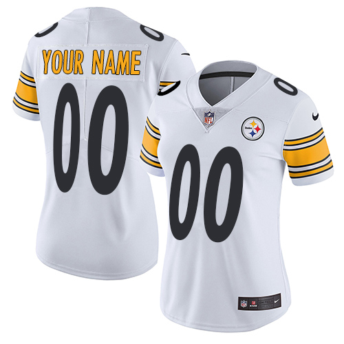 Nike NFL Pittsburgh Steelers Vapor Untouchable Customized Elite White Road Women's Jersey
