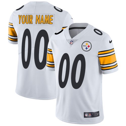 Nike NFL Pittsburgh Steelers Vapor Untouchable Customized Limited White Road Youth Jersey